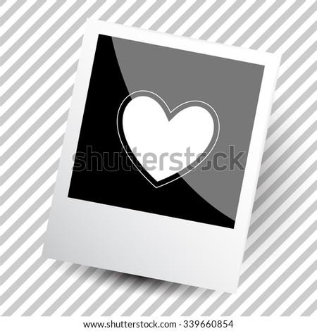 heart. Photoframe. Raster icon. - stock photo