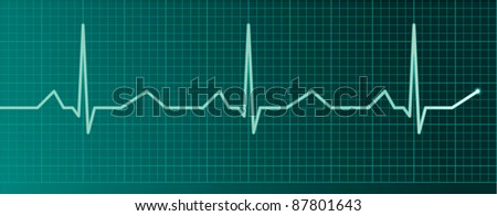 Heart pulse monitor - raster version - stock photo