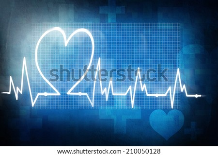 heart rate cardiogram - stock photo