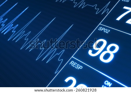 Heart Rate Monitor Illustration. Health Technology Concept - stock photo