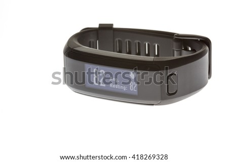 Heart rate monitor watch band for  sports activity isolated