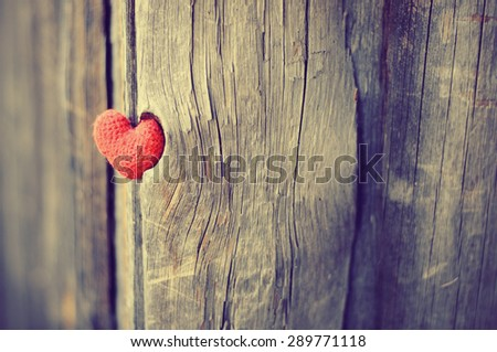 Heart, red heart, valentines day postcard, love, I love you, - stock photo