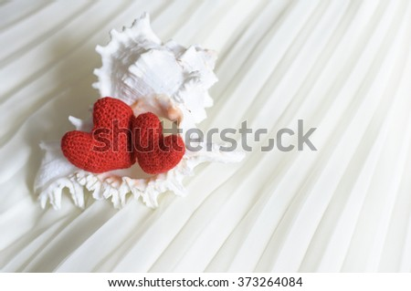Heart, red heart, valentines day postcard, love, love you, I love you, - stock photo