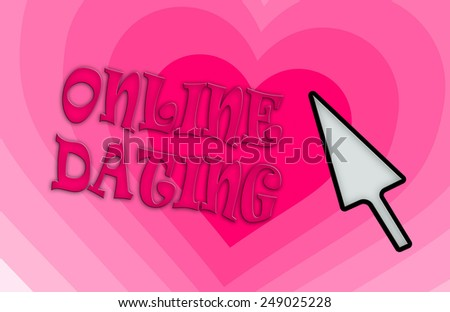 Heart shape backgound - Concept of dating - pink - stock photo