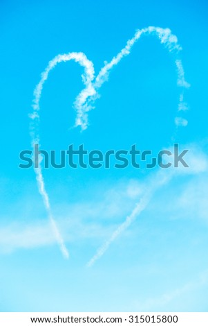 Heart Shape in the Sky  made by two planes during airshow