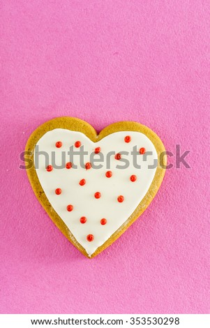 heart-shaped cookie for Valentines Day - stock photo