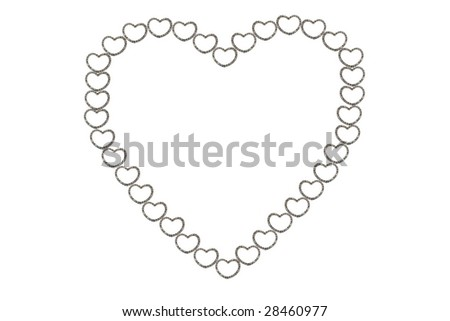 heart-shaped diamond on the white background - stock photo