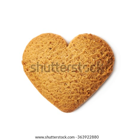 Heart shaped gingerbread isolated