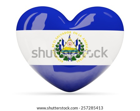 Heart Shaped Icon Flag El Salvador Stock Illustration 257285413