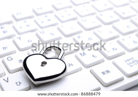heart-shaped key keyboard