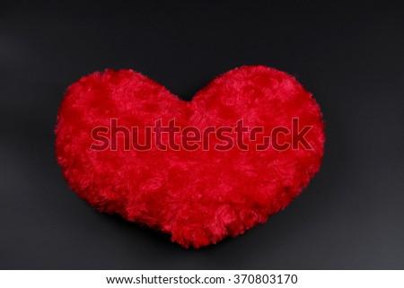Heart-shaped pillow   - stock photo