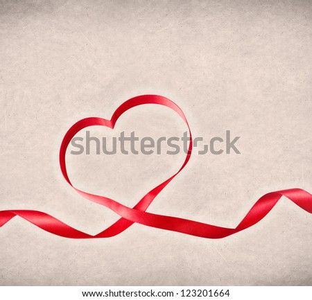 Heart shaped ribbon, template design