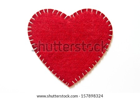 Heart sign velvet  - stock photo