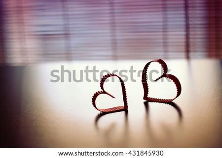heart silhouette shape paper - stock photo