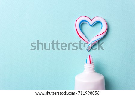 Heart Symbol Love Toothpaste Copy Space Stock Photo Edit Now