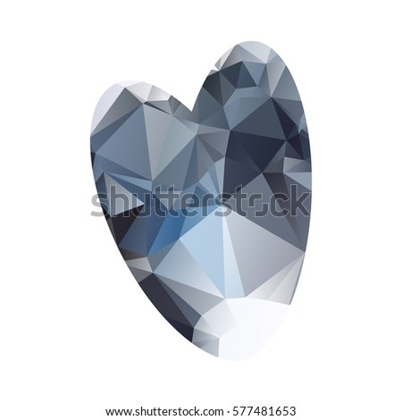 Heart Symbol Made Out Blue White Stock Illustration Royalty Free
