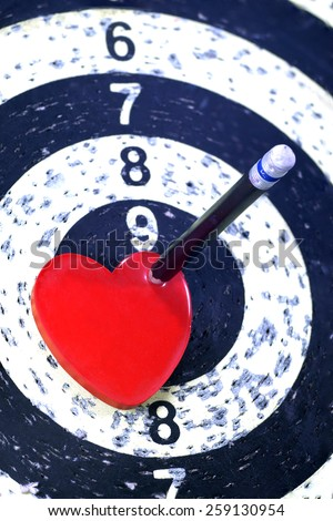 Heart Target for Lover Concept - stock photo