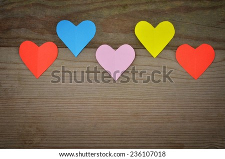 Heart - Valentines background - stock photo