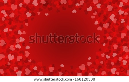 Heart vector for Valentine's day background. - stock photo