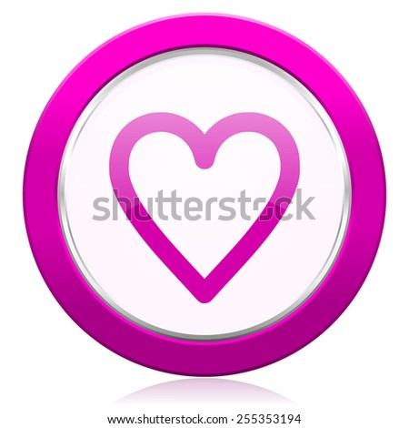 heart violet icon love sign  - stock photo