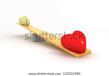 Heart vs Mind - stock photo