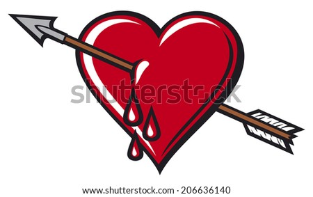 heart with arrow design - stock photo