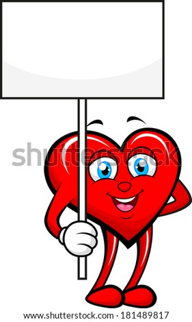 Heart with blank sign