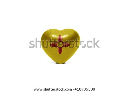 heart with flag of  new mexico state on the white background - stock photo