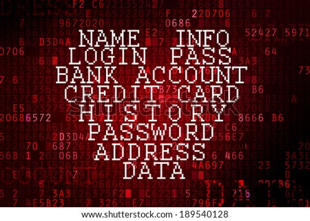 Heartbleed bug. Cracked Password and internet security issue concept. - stock photo
