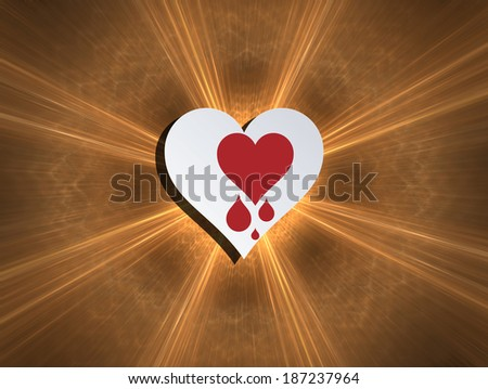 Heartbleed bug, feelings, blood donation and heart health. Concept for modern technological world. - stock photo