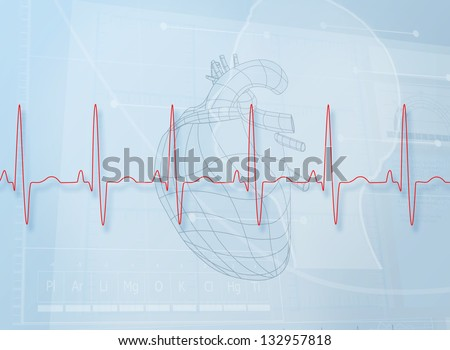 Hearth illustration behind a heartbeat line