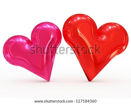 hearts - stock photo