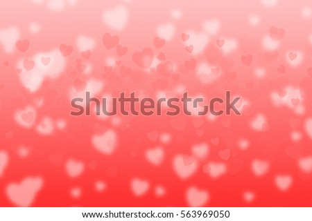 hearts background to Valentine's Day concept with shaped lights red hearts, different colored and place for text, holiday background