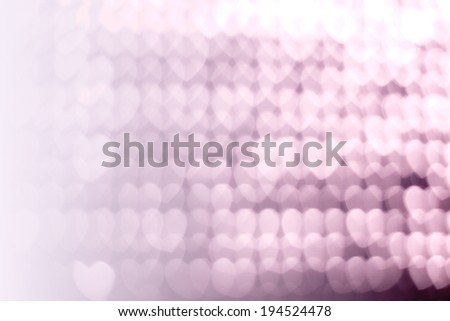 hearts bokeh background with copy space - stock photo