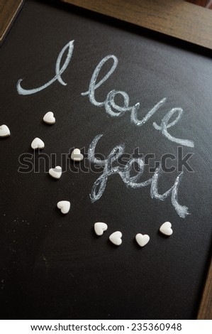 Hearts decoration for St. Valentine's day - stock photo