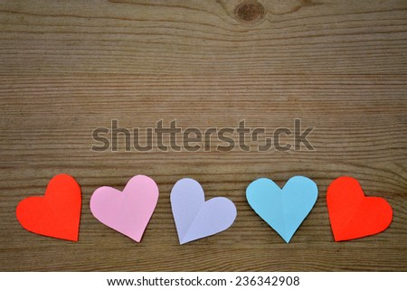 Hearts for love, valentines day background - stock photo