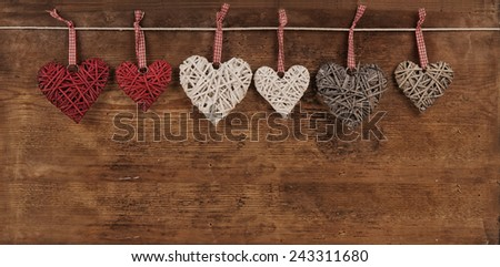 Hearts for Valentine Day - stock photo