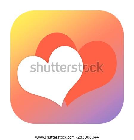 Hearts icon - stock photo