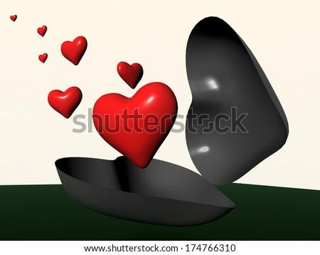 hearts new life - perspective future - valentines - stock photo