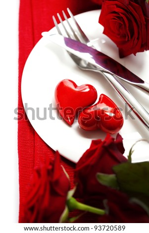 hearts on a plate. Love, harmony and Valentine's day concept