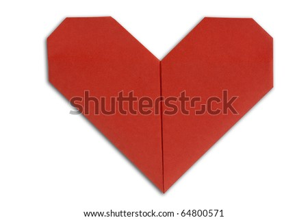 hearts on a white background - stock photo