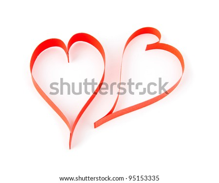 hearts on a white background
