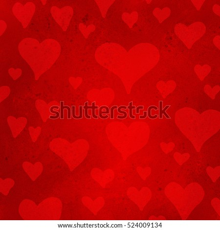 hearts on red background, February 14th valentines day background design, love or wedding day background concept