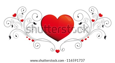 hearts, page decoration