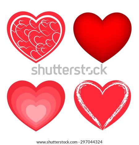 Hearts. Raster version - stock photo