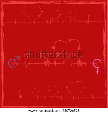Hearts rate for Valentine's Day - stock photo