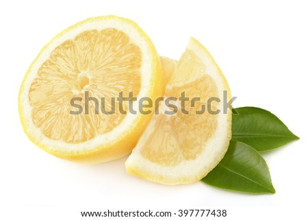 hearty and healthy lemon isolated on white background - stock photo
