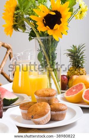 hearty breakfast - stock photo