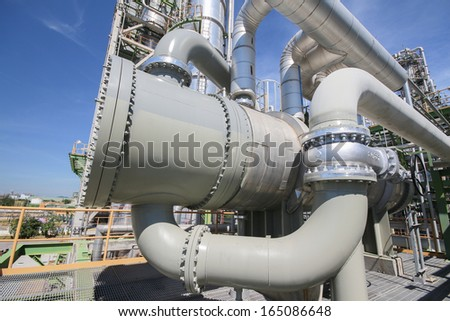 heat exchanger in industrial plant