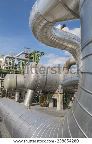 Heat exchanger structure in refining plant - stock photo